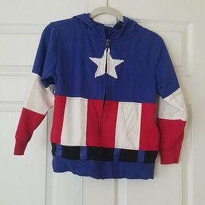 Captain America Authentic Marvel Boys Hoodie